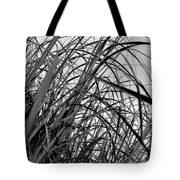 Tote Bag featuring the photograph Tangled Grass by Susan Capuano