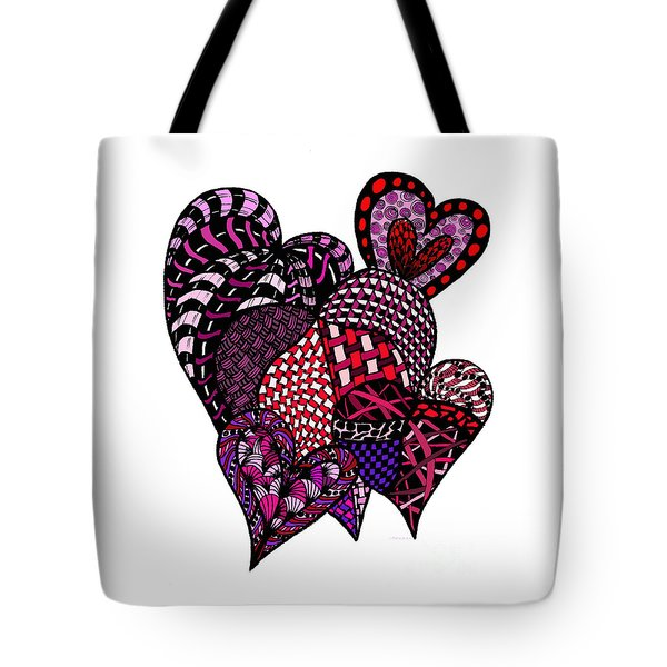 Tangled Hearts Tote Bag by Nan Wright