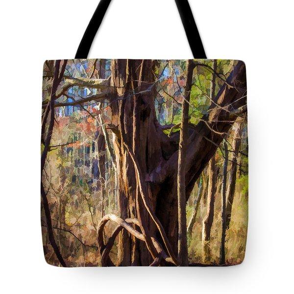 Tangled Vines On Tree Tote Bag