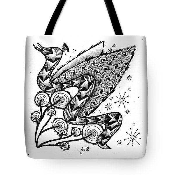 Tangled Serpent Tote Bag by Jan Steinle