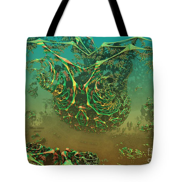 Tote Bag featuring the digital art Tangled Web by Melissa Messick