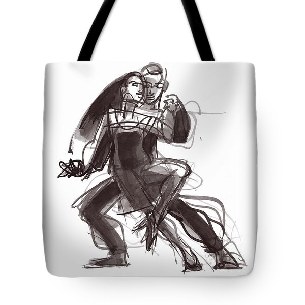 Tote Bag featuring the painting Tango #35 by Judith Kunzle