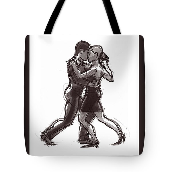 Tote Bag featuring the painting Tango #51 by Judith Kunzle