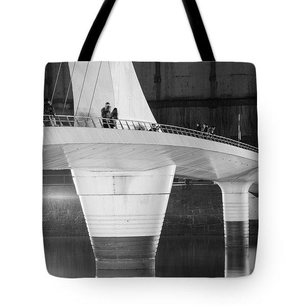 Tango Bridge Tote Bag by Silvia Bruno