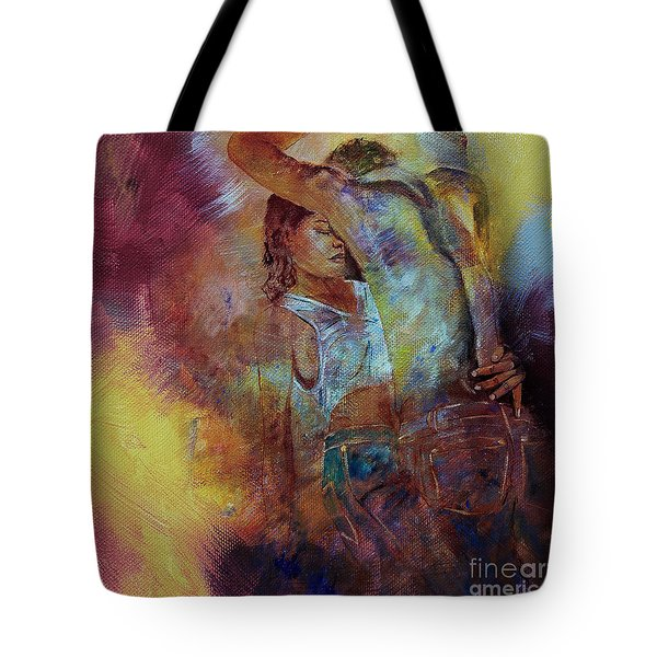 Tango Couple Dance Vby7 Tote Bag by Gull G