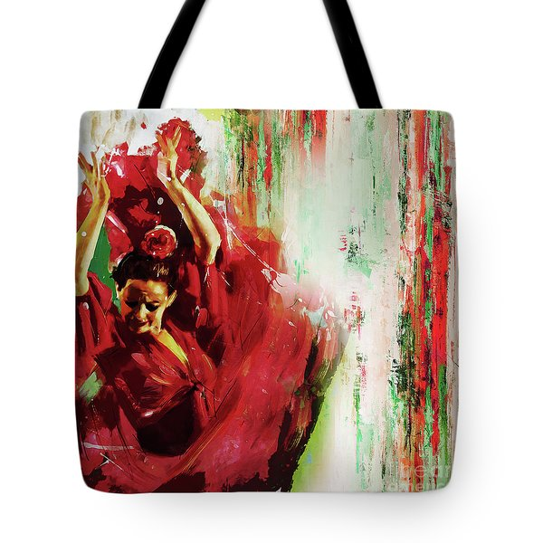 Tote Bag featuring the painting Tango Dance 45g by Gull G