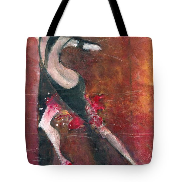 Tote Bag featuring the painting Tango by Maya Manolova