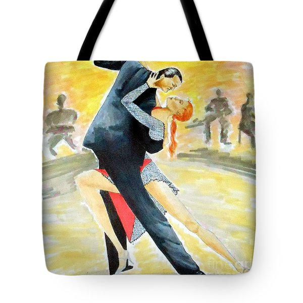 Tango Tangle -- Portrait Of 2 Tango Dancers Tote Bag