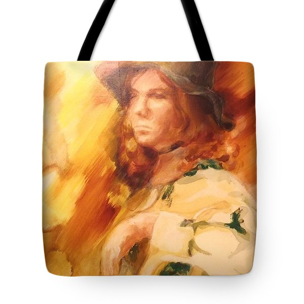 Tote Bag featuring the painting Tangy by Denise Fulmer