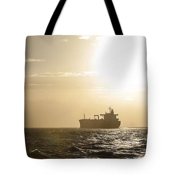 Tanker In Sun Tote Bag