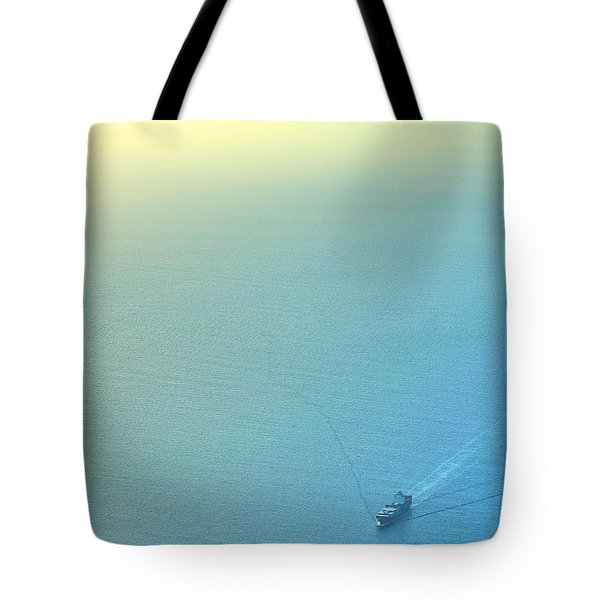 Tote Bag featuring the photograph Freighter Minimalism by Steven Richman