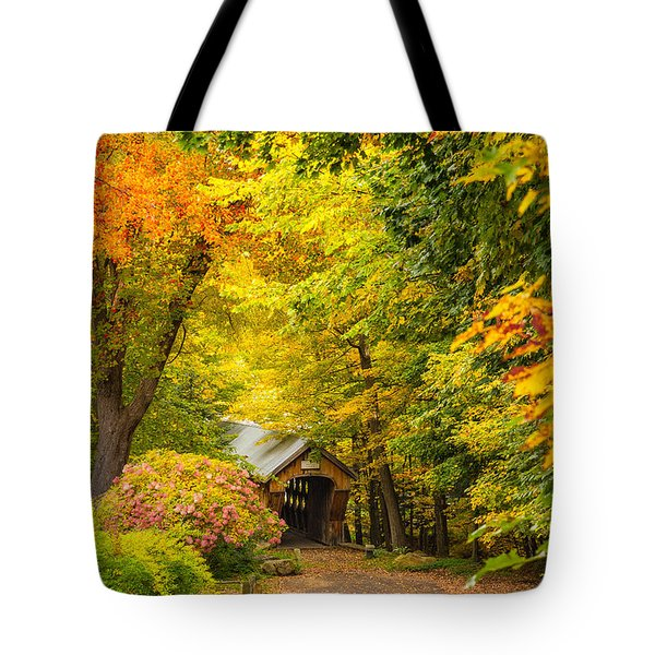 Tannery Hill Covered Bridge Tote Bag