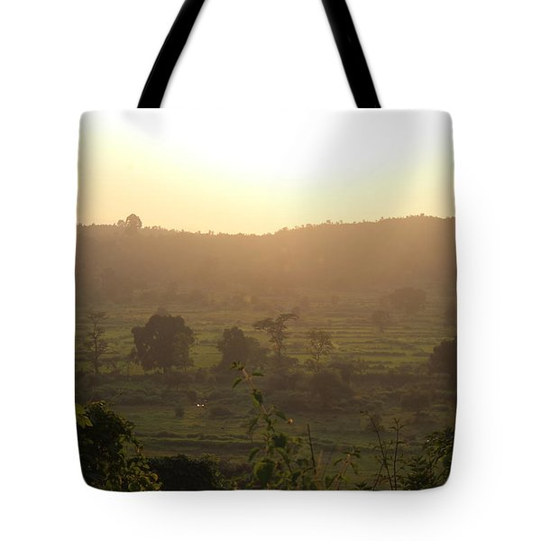 Tansa Valley, Vajreshwari From The Devi Temple Complex Tote Bag