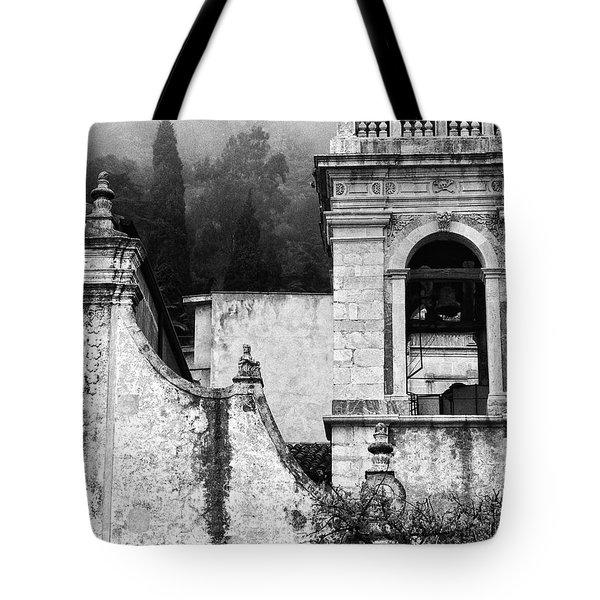 Taormina Church Detail Tote Bag by Silvia Ganora