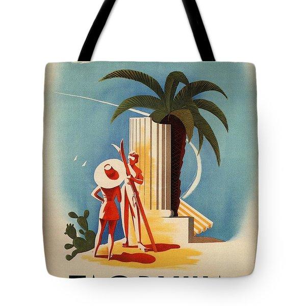 Taormina, Sicily, Italy - Couples - Retro Travel Poster - Vintage Poster Tote Bag