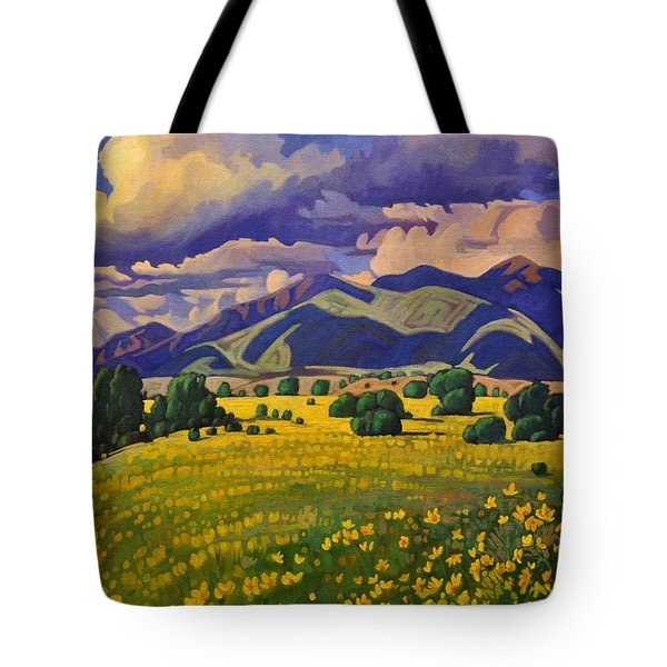 Taos Fields Of Yellow Tote Bag