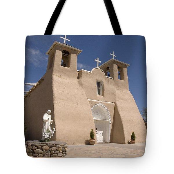 Taos Landmark Tote Bag by Jerry McElroy