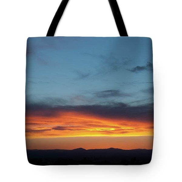 Taos Mesa Sunset Tote Bag