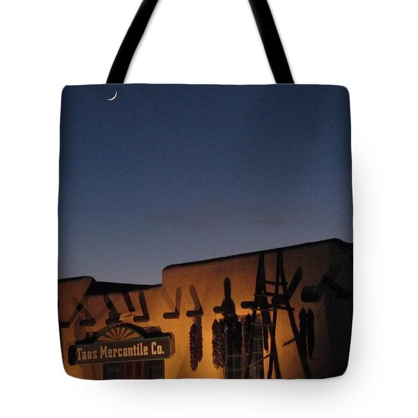 Taos Plaza Tote Bag by Christopher Kirby