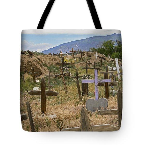 Taos Pueblo Cemetery Tote Bag