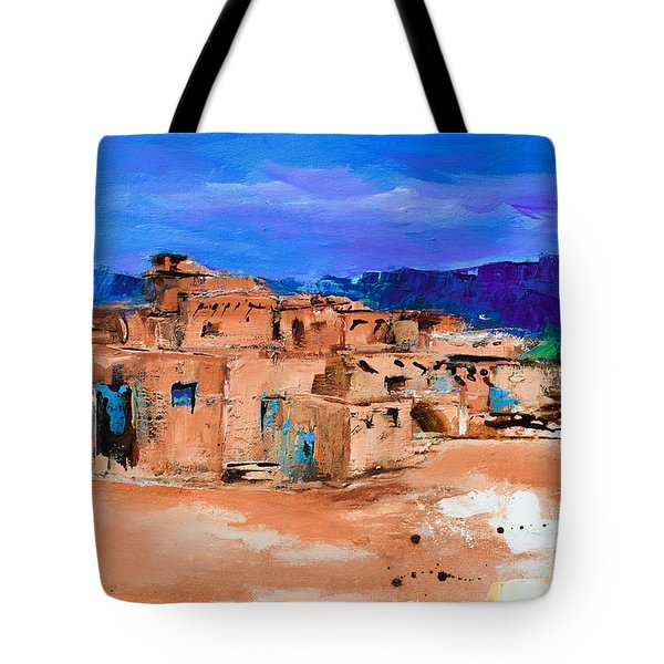 Taos Pueblo Village Tote Bag