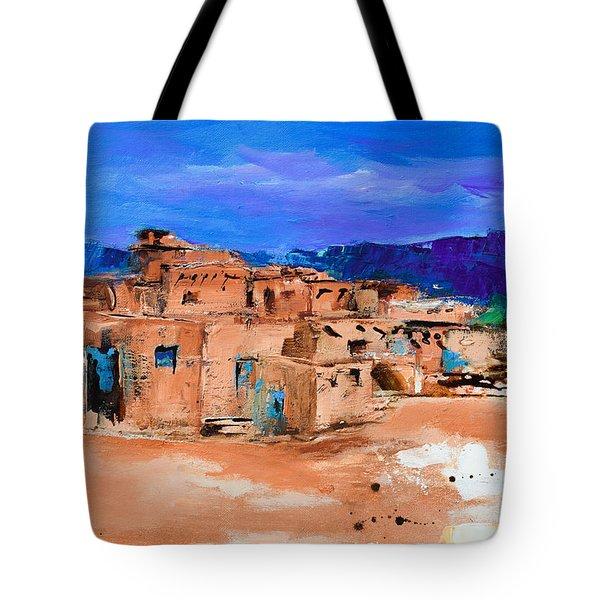Taos Pueblo Village Tote Bag