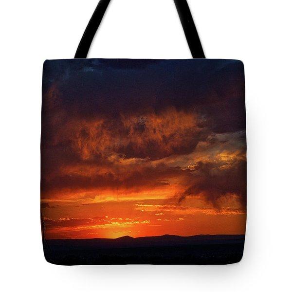 Taos Virga Sunset Tote Bag