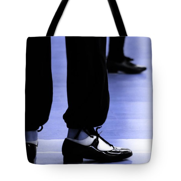 Tap Dance In Blue Are Shoes Tapping In A Dance Academy Tote Bag