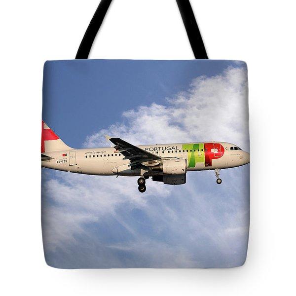 Tap Portugal Airbus A319-111 Tote Bag
