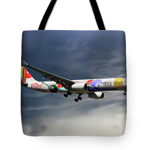 Tap Portugal Airbus A330-343 Tote Bag