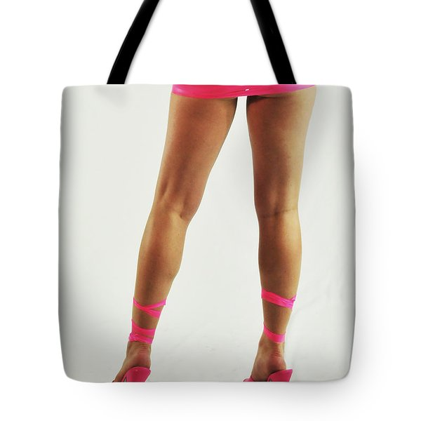 Tape And Heels Tote Bag