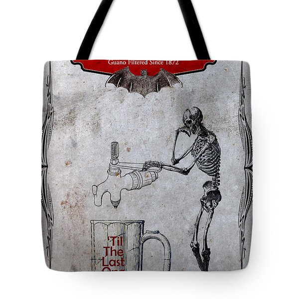 Tote Bag featuring the digital art Tapped Out Ale by Greg Sharpe