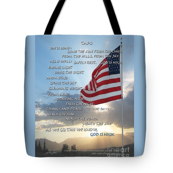 Taps Words Tote Bag