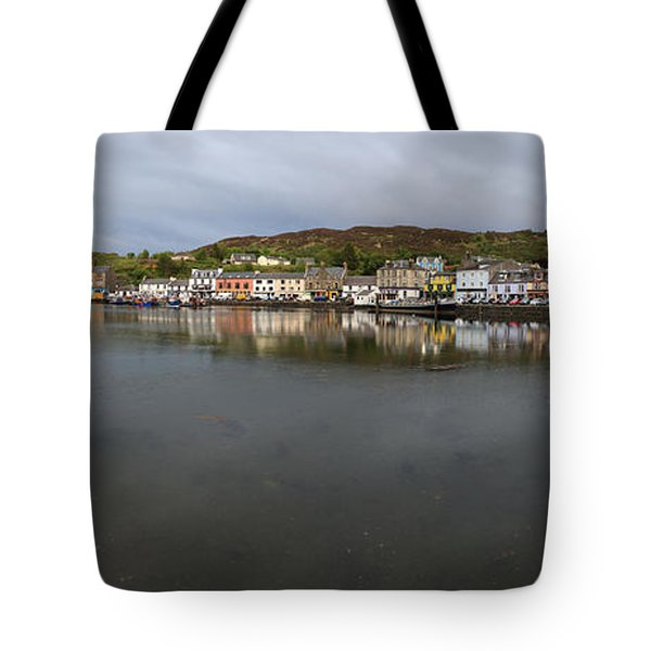 Tarbert Harbour - Panorama Tote Bag