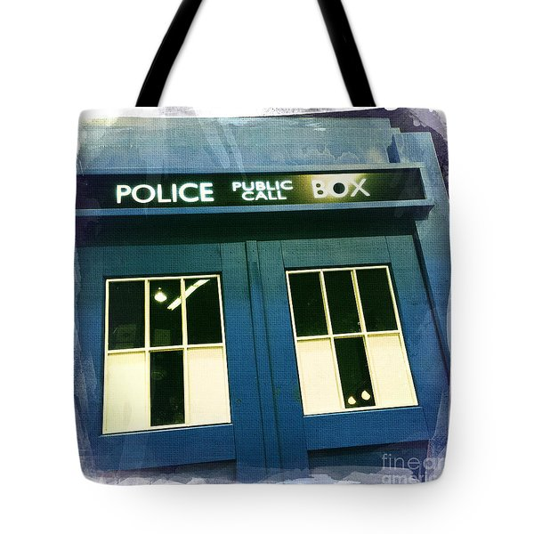 Tardis Dr Who Tote Bag by Nina Prommer
