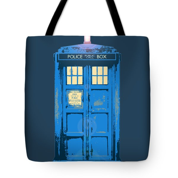 Tardis - Think Inside The Box Tote Bag by Richard Reeve
