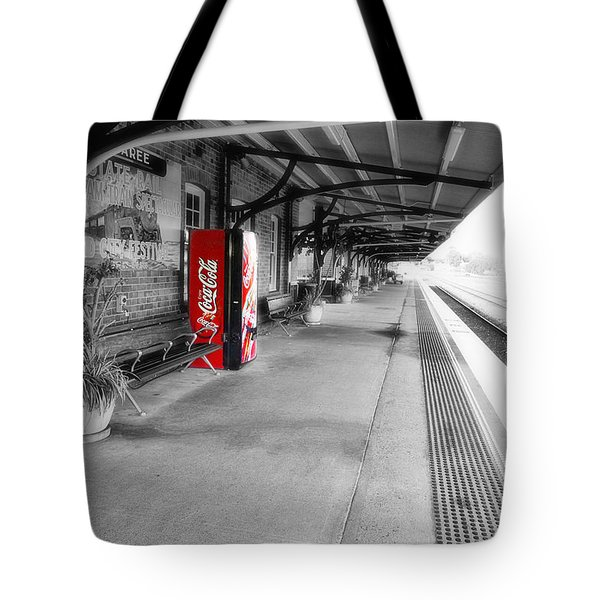 Tote Bag featuring the photograph Taree Railway Station 0001 by Kevin Chippindall