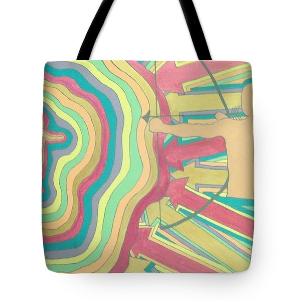 Tote Bag featuring the painting Target by Erika Chamberlin