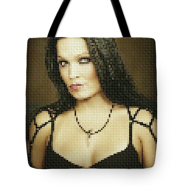 Tote Bag featuring the digital art Tarja 11 by Marko Sabotin