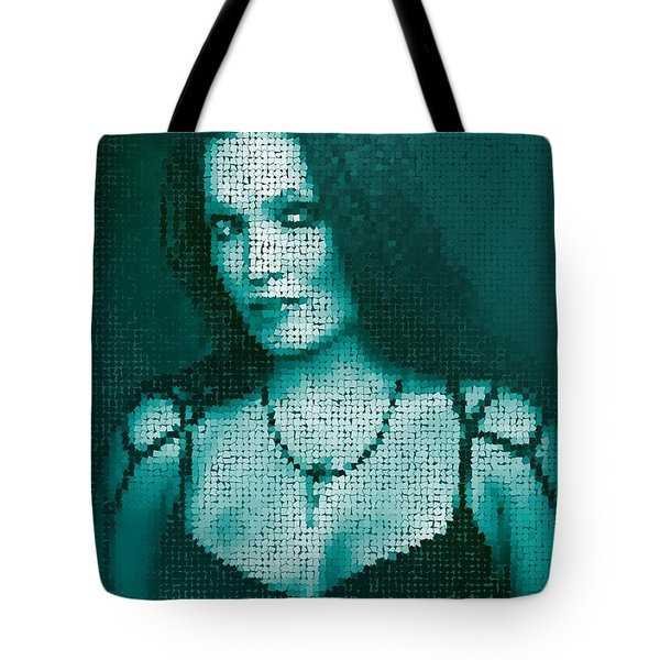 Tote Bag featuring the digital art Tarja 12 by Marko Sabotin