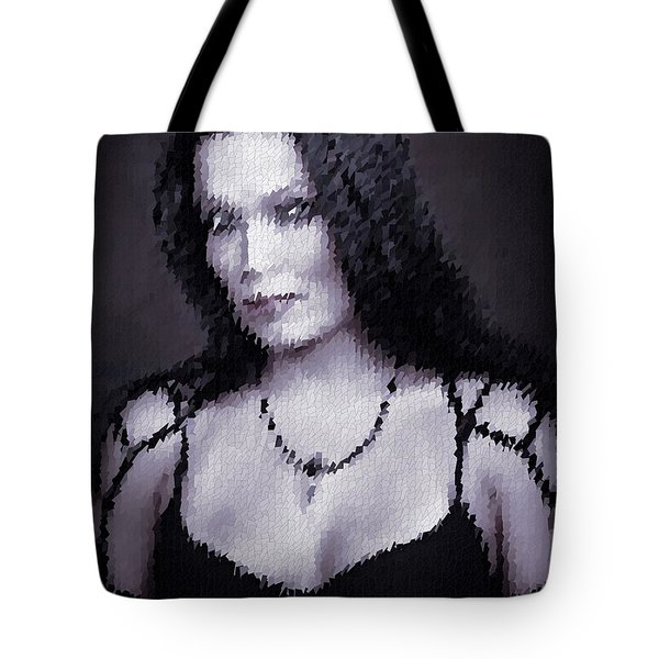 Tote Bag featuring the digital art Tarja 13 by Marko Sabotin