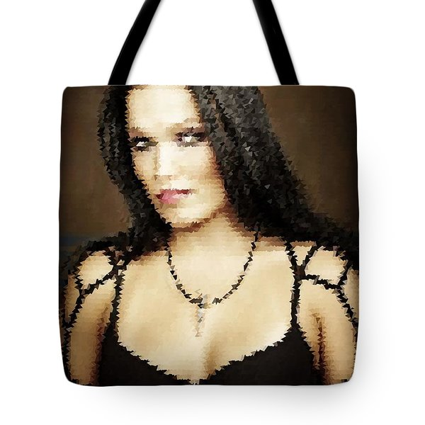Tote Bag featuring the digital art Tarja 17 by Marko Sabotin