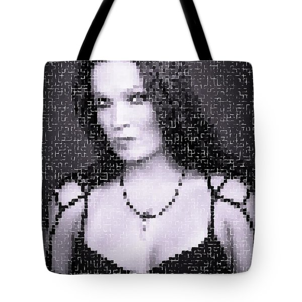 Tote Bag featuring the digital art Tarja 19 by Marko Sabotin