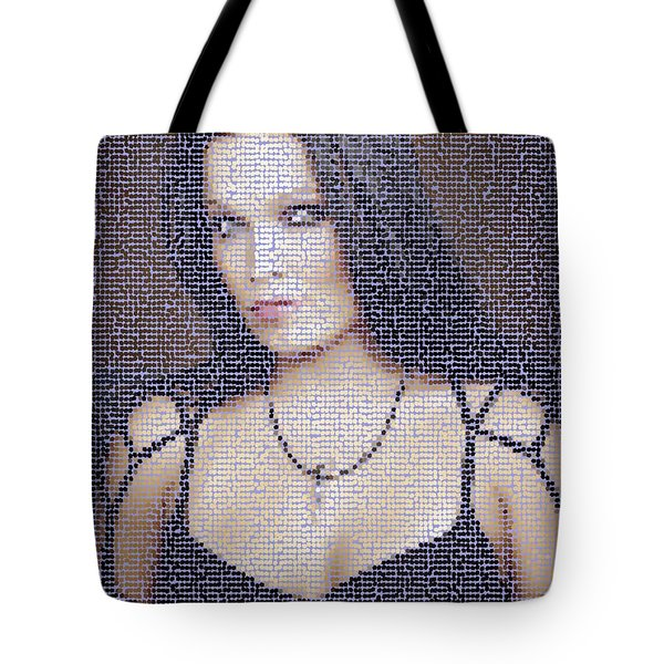 Tote Bag featuring the digital art Tarja 2 by Marko Sabotin