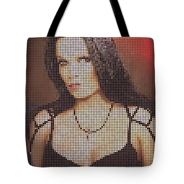 Tote Bag featuring the digital art Tarja 7 by Marko Sabotin