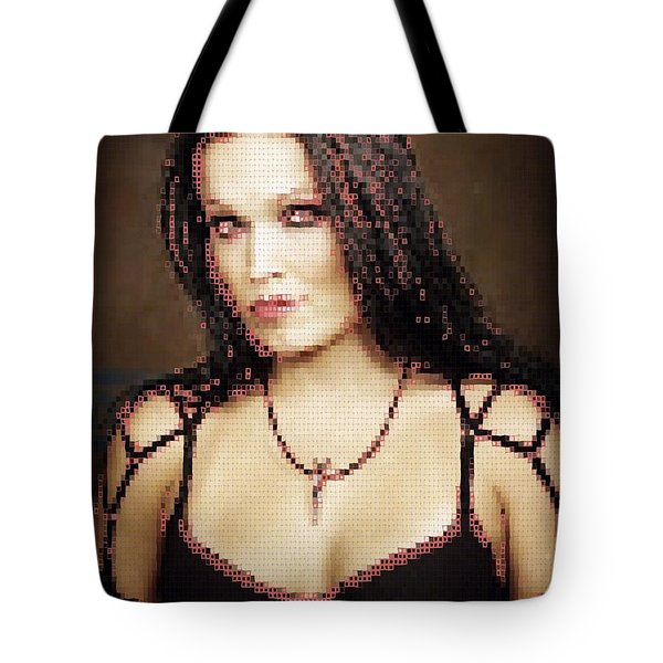 Tote Bag featuring the digital art Tarja 8 by Marko Sabotin