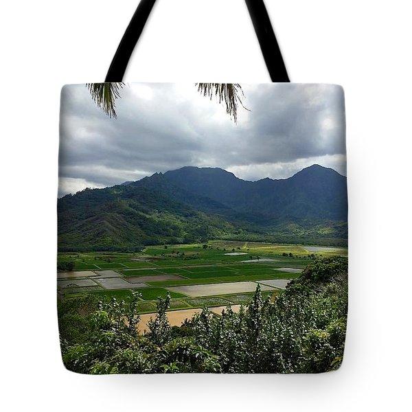 Taro Fields On Kauai Tote Bag
