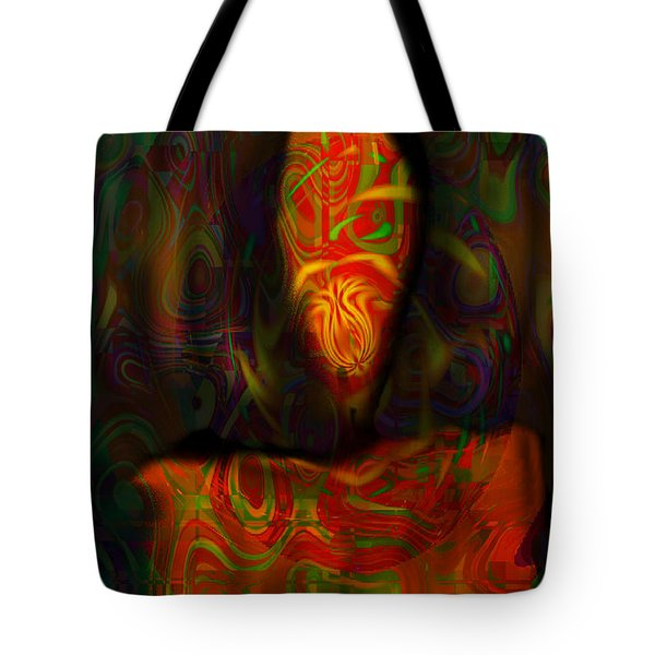 Tote Bag featuring the painting Tarot Candle by Kevin Caudill