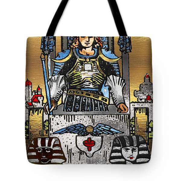 Tarot Gold Edition - Major Arcana - The Chariot Tote Bag