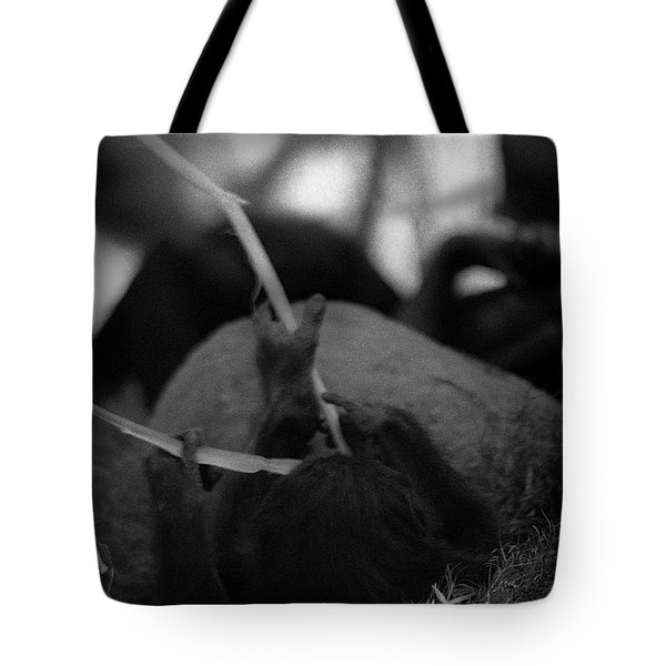 Tarry With Us Tote Bag